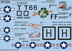 Kitsworld Kitsworld 1/144 Scale Decal Sheet B-29 Superfortress KW144001~