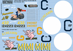 Kitsworld Kitsworld B24D Liberator CBI - Europe  1/48 Scale Decal Sheet KW148044 B24D 'Doodlebug' - 41-24223 373 BS, 308 BG