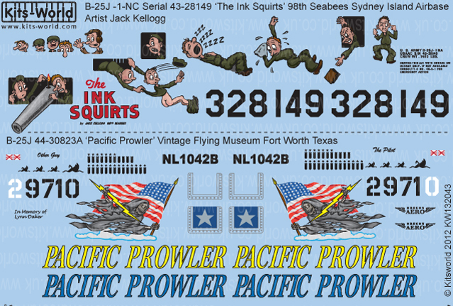 Kitsworld Kitsworld  - 1/32 Scale Decal Sheet B-25J Mitchell KW132043