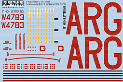 Kitsworld Kitsworld  - 1/32 Scale Decal Sheet Avro Lancaster B.III 'G for George' KW132051