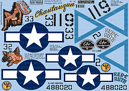 Kitsworld Kitsworld  - 1/32 Scale Decal Sheet Thunderbolt P-47N KW132040