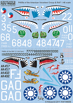 Kitsworld Kitsworld 1/48 Scale Decal Sheet KW148058~
