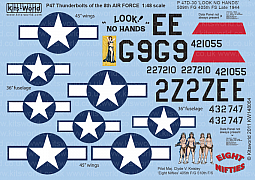 Kitsworld Kitsworld 1/48 Scale Decal Sheet KW148064 P-47D Eight Nifties - 'LOOK NO HANDS'