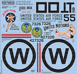 Kitsworld Kitsworld  - 1/48 Scale Decal Sheet B-29 Super Fortress KW148083