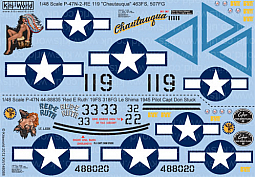 Kitsworld Kitsworld  - 1/48 Scale Decal Sheet P-47 Thunderbolt KW148088
