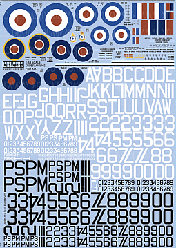 Kitsworld Kitsworld  - 1/48 Scale Decal Sheet Supermarine Spitfire Mk XIX KW148091