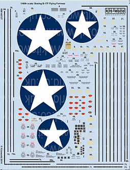 Kitsworld Kitsworld  - 1/48 Scale Decal Sheet B-17F Flying Fortress