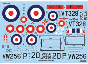 Kitsworld 1/48 Scale Gloster Meteor Mk.IV - F4 Gloster Meteor KW148129