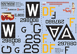 Kitsworld Kitsworld B17 G Flying Fortress - 1/72 Scale Decal Sheet KW172003 'American Beauty' - 'Little Miss Mischief'