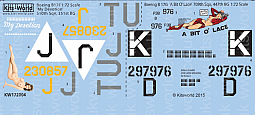 Kitsworld Kitsworld Boeing B17 F/G Flying Fortress -  1/72 Scale Decal Sheet KW172004  'My Devotion' - 'A Bit O Lace'