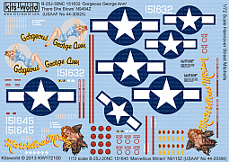 Kitsworld Kitsworld  -'B-25J Mitchells' 1/72 Scale Decal Sheet KW172100