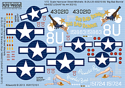 Kitsworld Kitsworld  -'B-25J Mitchells' 1/72 Scale Decal Sheet KW172101