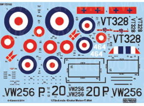 Kitsworld 1/72 Scale Gloster Meteor Mk.IV - F4 Gloster Meteor KW172102