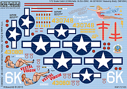 Kitsworld Kitsworld  -'B-25J Mitchells' 1/72 Scale Decal Sheet KW172105