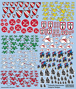 Kitsworld Kitsworld  - Mixed Scale German Luftwaffe Geschwader Insignia KW17248-3