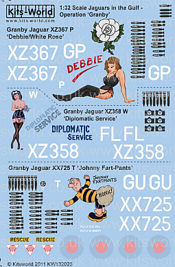 Kitsworld Kitsworld 'Jaguars' - 1/32 Scale Decal Sheet  KW132025 Operation Granby