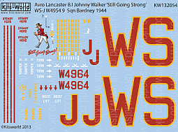 Kitsworld 1/32 Scale Avro Lancaster B.I Decal Sheet