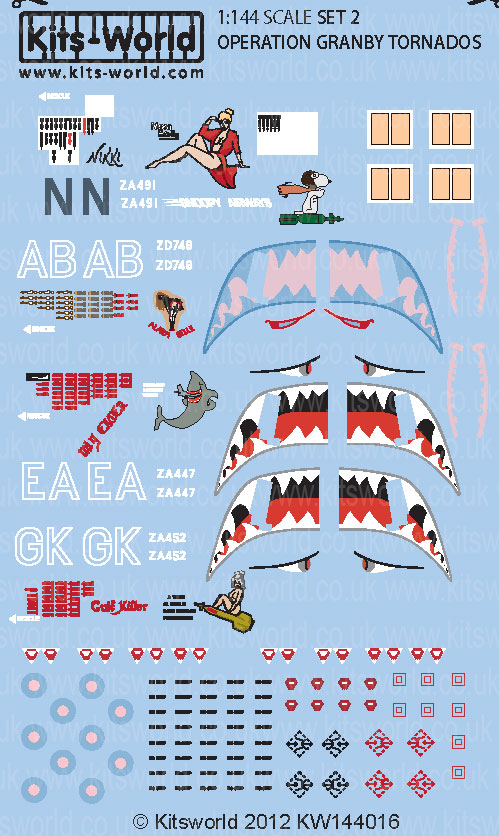 Kitsworld Kitsworld  - 1/144 Scale Decal Sheet Panavia Tornado GR1 KW144016