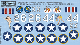 Kitsworld Kitsworld  - 1/48 Scale Decal Sheet P-40 Tomahawks KW148068