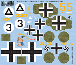 Kitsworld Kitsworld  - 1/48 Scale Decal Sheet B-24 Liberator KW148069