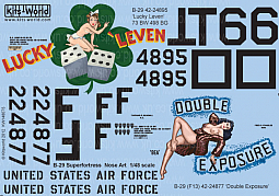 Kitsworld Kitsworld  - 1/48 Scale Decal Sheet B-29 Super Fortress KW148075
