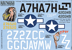 Kitsworld Kitsworld  - 1/48 Scale Decal Sheet P-47 Thunderbolts KW148079