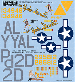 Kitsworld Kitsworld  - 1/48 Scale Decal Sheet B-26C Marauders KW148085