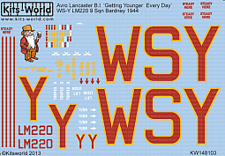 Kitsworld Kitsworld  - 1/48 Scale Decal Sheet Avro Lancaster B.I KW148103 Avro Lancaster B.I~