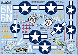 Kitsworld Kitsworld  - 1/48 Scale Decal Sheet Catch 22 Mitchells KW148110 Mitchells B-25H - B-25J
