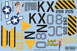 Kitsworld Kitsworld  - 1/72 Scale Decal Sheet B-26 Marauders KW172062