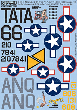 Kitsworld Kitsworld  - 1/72 Scale Decal Sheet B-26 Marauders KW172074