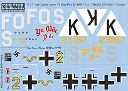 Kitsworld Kitsworld  - 1/72 Scale Decal Sheet B-17F/G Flying Fortress KW172054~