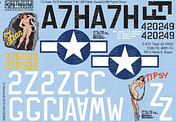Kitsworld Kitsworld  - 1/32 Scale Decal Sheet P-47 Thunderbolts KW132036