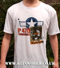 Kitsworld Kitsworld Nose Art T-Shirts P-47 Stalag Luft III