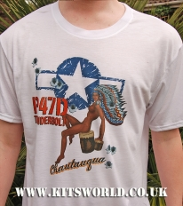 Kitsworld Kitsworld Nose Art T-Shirts P-47 Chautauqua