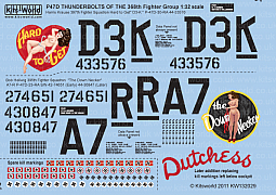 Kitsworld Kitsworld  - P47D Thunderbolts 1/32 Scale Decal Sheet