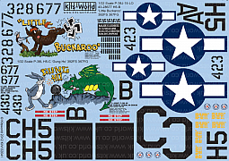 Kitsworld Kitsworld  - 1/32 Scale Decal Sheet Lightning P-38 J/L KW132041