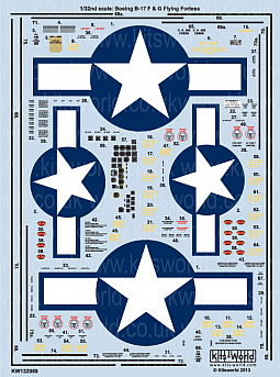 Kitsworld Kitsworld  - 1/32 Scale B-17F/G Decal Sheet