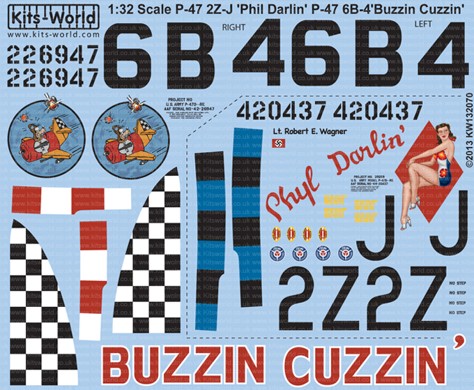 Kitsworld KW132070 1/32 Scale P-47D Bubbletop KW132070~