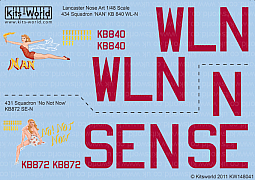 Kitsworld Kitsworld Lancaster Bomber- 1/48 Scale Decal Sheet
