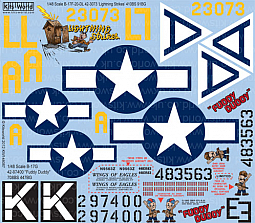 Kitsworld Kitsworld  - 1/48 Scale Decal Sheet B-17 KW148087
