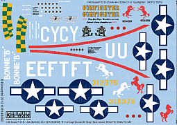 Kitsworld Kitsworld  - 1/48 Scale Decal Sheet P-51D Mustangs