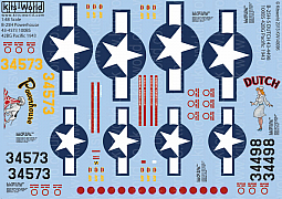 Kitsworld Kitsworld  - B-25 Mitchell 1/48 Scale Decal Sheet KW148096