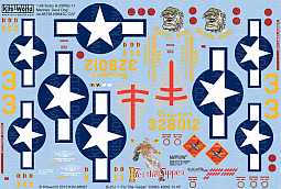 Kitsworld Kitsworld  - B-25 Mitchell 1/48 Scale Decal Sheet KW148097