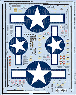 Kitsworld Kitsworld  - 1/48 Scale Decal Sheet B-17G Flying Fortress