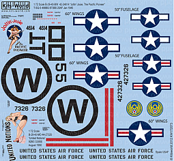 Kitsworld Kitsworld  - 1/72 Scale Decal Sheet B-29 Super Fortress