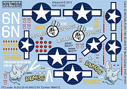 Kitsworld Kitsworld  -'B-25J Mitchells' 1/72 Scale Decal Sheet