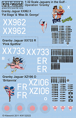 Kitsworld Kitsworld 'Jaguars' -  1/32 Scale Decal Sheet  KW132022 Operation Granby