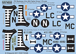Kitsworld Kitsworld 1/72 Scale Decal Sheet P-51D Mustang KW172046~