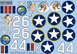 Kitsworld Kitsworld  - 1/32 Scale Decal Sheet P-40 Warhawks